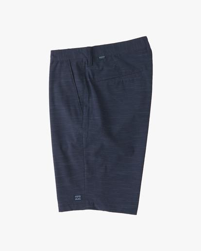 2 Boys' Crossfire Slub Shorts Blue ABBWS00101 Billabong