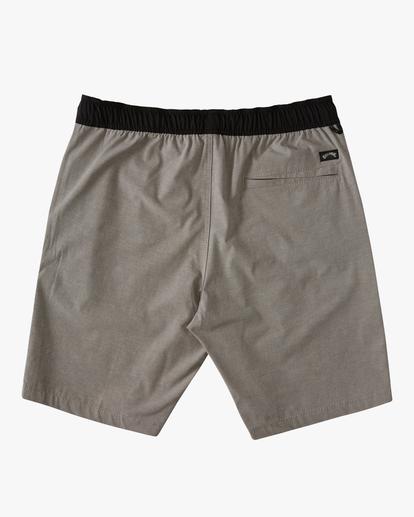 "1 Boys' Crossfire Elastic Short 16"" Grey ABBWS00111 Billabong"