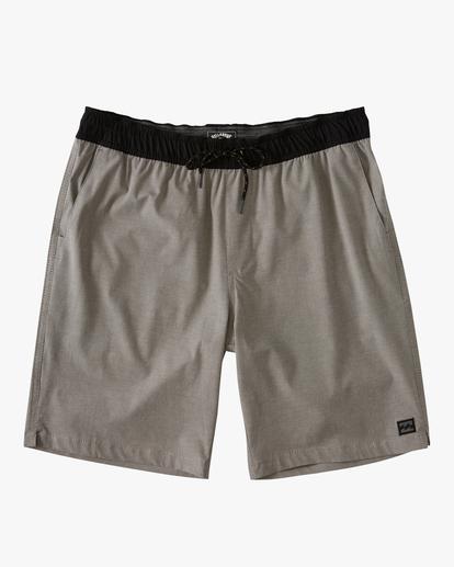 "0 Boys' Crossfire Elastic Short 16"" Grey ABBWS00111 Billabong"