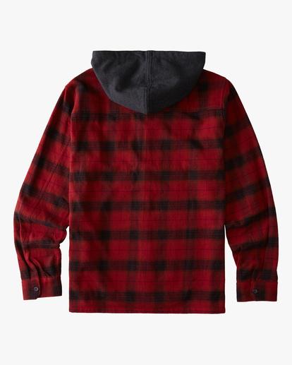 1 Boy's Baja Flannel Shirt Red ABBWT00102 Billabong