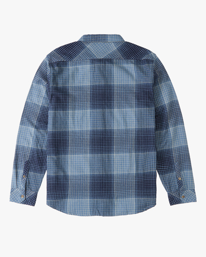 1 Boys' Coastline Flannel Shirt Blue ABBWT00103 Billabong