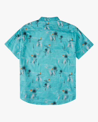 1 Boys' Sundays Floral Short Sleeve Shirt Grey ABBWT00104 Billabong