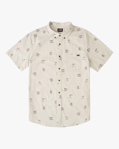 0 Boys' Sundays Mini Short Sleeve Shirt Beige ABBWT00105 Billabong