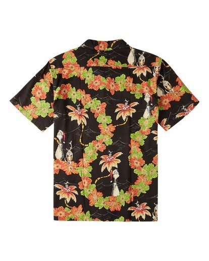 1 Boys' Sundays Floral Grinch Short Sleeve Shirt Black ABBWT00108 Billabong