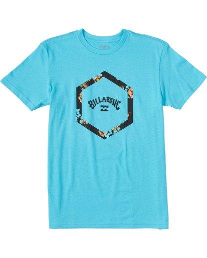 0 Boys' Access Short Sleeve T-Shirt Blue ABBZT00100 Billabong