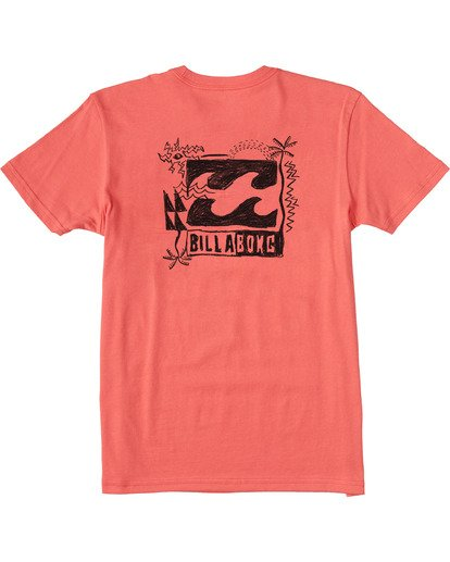 1 Boys' Crayon Wave Short Sleeve T-Shirt Orange ABBZT00102 Billabong