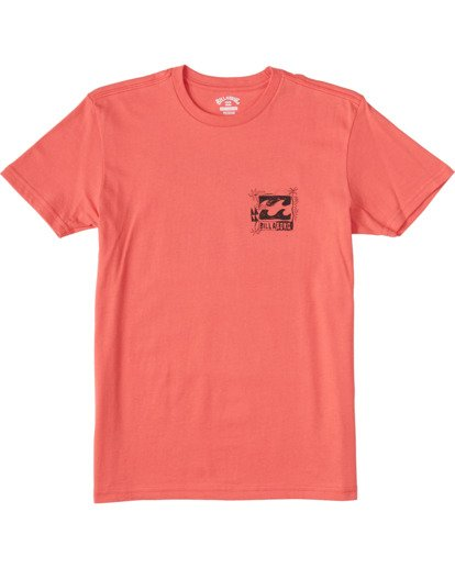 0 Boys' Crayon Wave Short Sleeve T-Shirt Orange ABBZT00102 Billabong
