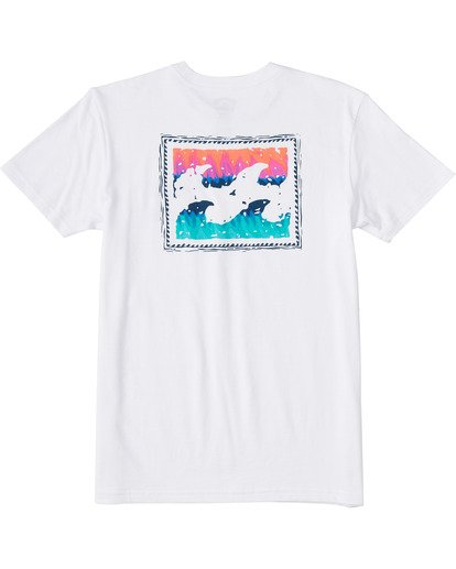 1 Boys' Crayon Wave Short Sleeve T-Shirt White ABBZT00102 Billabong