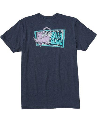 1 Boys' Angler Short Sleeve T-Shirt Blue ABBZT00108 Billabong