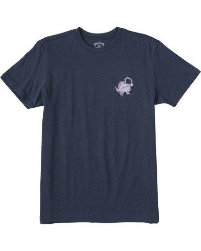 0 Boys' Angler Short Sleeve T-Shirt Blue ABBZT00108 Billabong