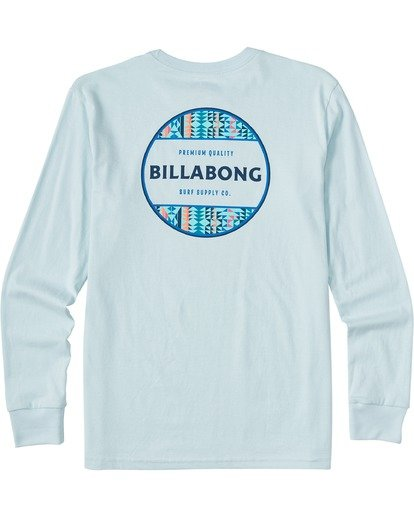 1 Boys' Rotor Long Sleeve T-Shirt Blue ABBZT00112 Billabong