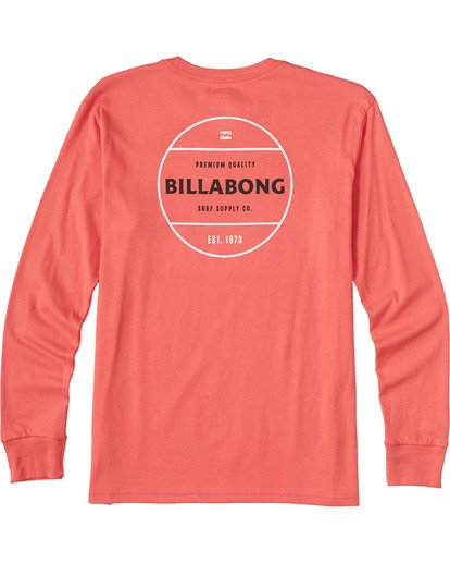 1 Boys' Rotor Long Sleeve T-Shirt Orange ABBZT00112 Billabong
