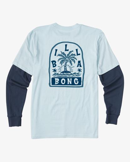 1 Boy's Maze TwoFer Long Sleeve T-Shirt Blue ABBZT00121 Billabong