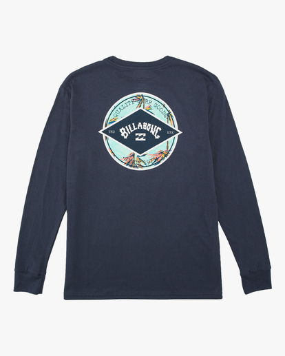 1 Boys' Rotor Arch Long Sleeve T-Shirt Blue ABBZT00124 Billabong