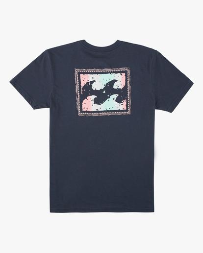 1 Boys' Crayon Wave Short Sleeve T-Shirt Blue ABBZT00132 Billabong