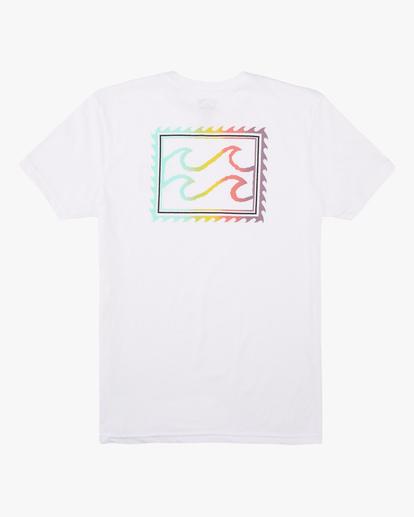 1 Boys' Crayon Wave Short Sleeve T-Shirt White ABBZT00132 Billabong