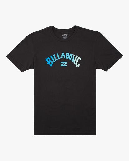 0 Boys' Arch Fade Short Sleeve T-Shirt Black ABBZT00134 Billabong