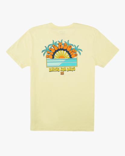 1 Boys' Green Flash Short Sleeve T-Shirt Yellow ABBZT00135 Billabong