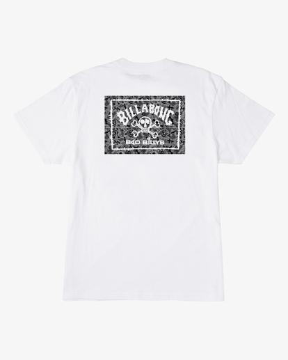 1 Boy's Bad Billy Arch Short Sleeve T-Shirt White ABBZT00136 Billabong