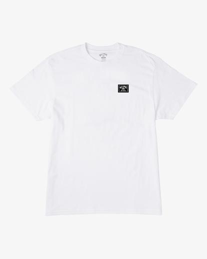 0 Boy's Bad Billy Arch Short Sleeve T-Shirt White ABBZT00136 Billabong