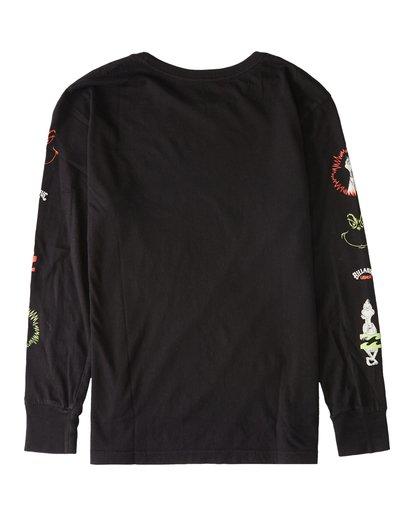 1 Boys' Grinchmas Vacation Long Sleeve T-Shirt Black ABBZT00155 Billabong