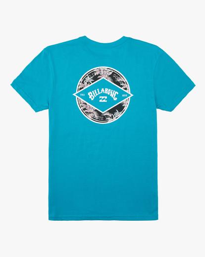 1 Boys' Rotor Arch Short Sleeve T-Shirt Blue ABBZT00160 Billabong