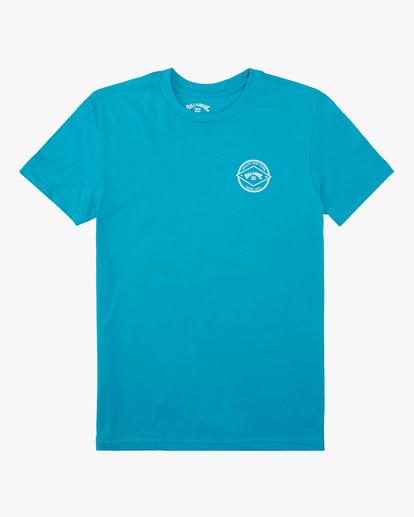 0 Boys' Rotor Arch Short Sleeve T-Shirt Blue ABBZT00160 Billabong