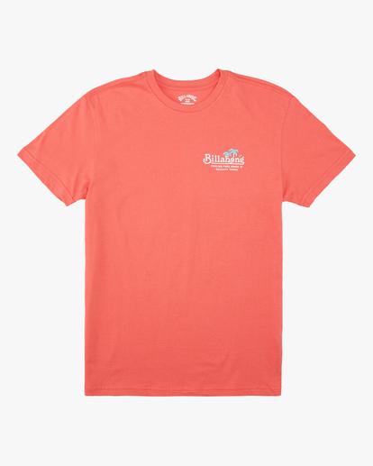 0 Boys' Lounge Short Sleeve T-Shirt Orange ABBZT00162 Billabong