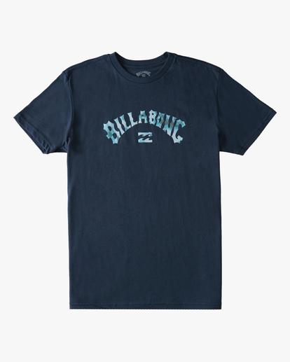 0 Boys' Arch Fill Short Sleeve T-Shirt Blue ABBZT00175 Billabong
