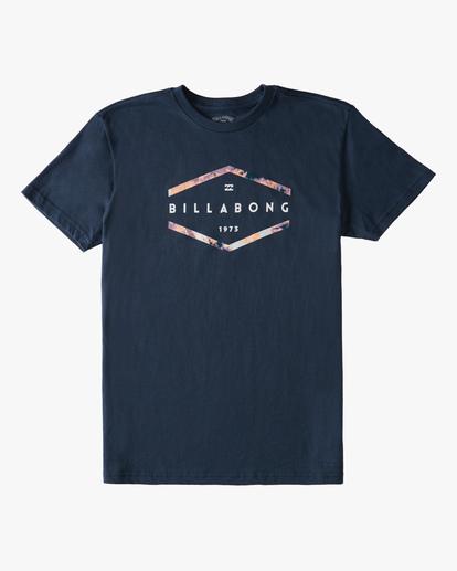 0 Boys' Entry Short Sleeve T-Shirt Blue ABBZT00177 Billabong