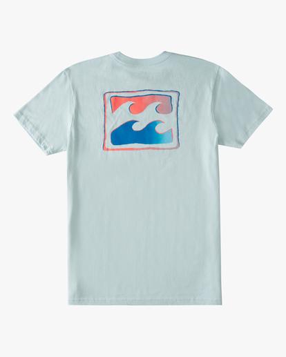 1 Boys' Crayon Wave Short Sleeve T-Shirt Blue ABBZT00179 Billabong