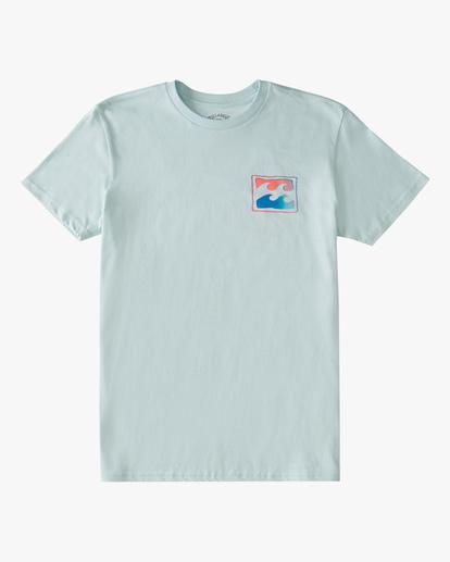 0 Boys' Crayon Wave Short Sleeve T-Shirt Blue ABBZT00179 Billabong
