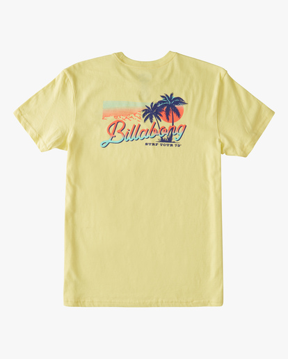1 Boys' Surf Tour Short Sleeve T-Shirt Yellow ABBZT00183 Billabong