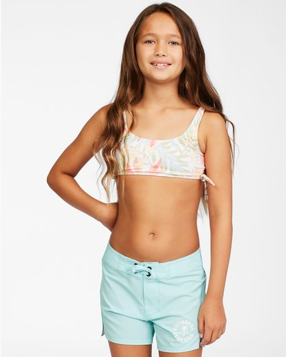 0 Girls' Lil Love Palms Boardshort Blue ABGBS00105 Billabong