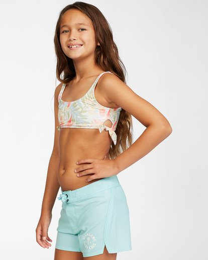 1 Girls' Lil Love Palms Boardshort Blue ABGBS00105 Billabong