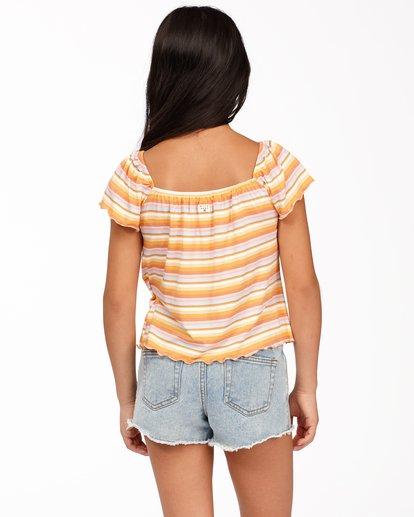 2 Girls' Drift Away Jr Cut-Off Denim Shorts White ABGDS00100 Billabong