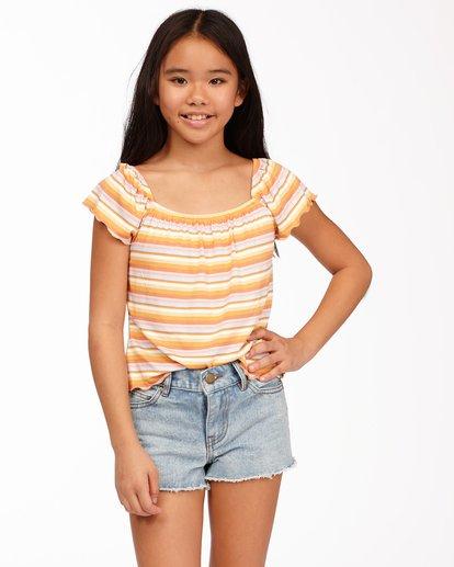 0 Girls' Drift Away Jr Cut-Off Denim Shorts White ABGDS00100 Billabong