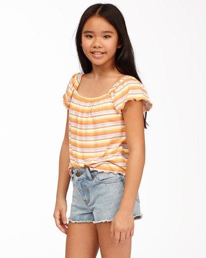 1 Girls' Drift Away Jr Cut-Off Denim Shorts White ABGDS00100 Billabong