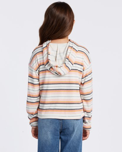 2 Happy Stripes Hoodie Grey ABGFT00110 Billabong