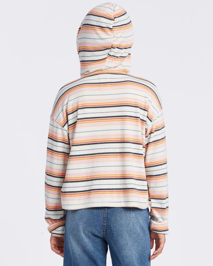 3 Happy Stripes Hoodie Grey ABGFT00110 Billabong