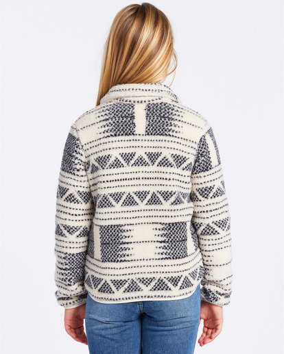2 Warm And Cozy Fleece Jacket White ABGFT00116 Billabong