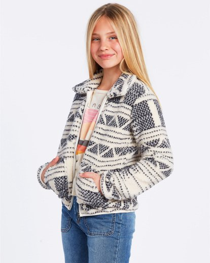 1 Warm And Cozy Fleece Jacket White ABGFT00116 Billabong