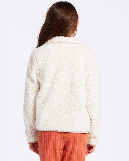 2 Warm And Cozy Fleece Jacket White ABGFT00116 Billabong