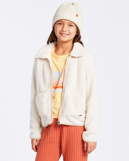 0 Warm And Cozy Fleece Jacket White ABGFT00116 Billabong