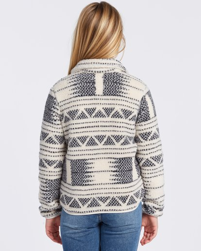 5 Warm And Cozy Fleece Jacket White ABGFT00116 Billabong