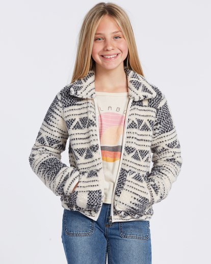 3 Warm And Cozy Fleece Jacket White ABGFT00116 Billabong