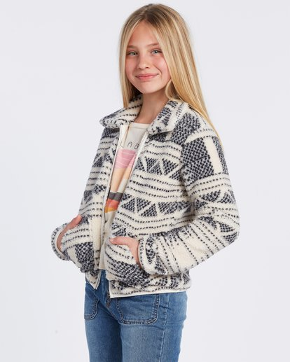 4 Warm And Cozy Fleece Jacket White ABGFT00116 Billabong
