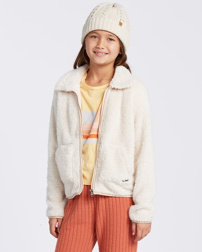 0 Warm And Cozy Polar Fleece Jacket White ABGFT00116 Billabong