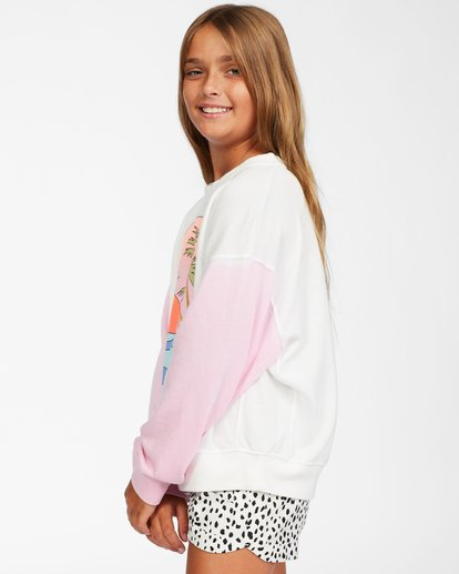 1 Girls' Paradise Pullover Sweatshirt White ABGFT00128 Billabong