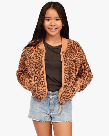 0 Girls' Wild Zip-Up Bomber Jacket Multicolor ABGFT00134 Billabong